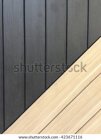 brown and BLACK wood