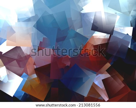 Brown and Blue Abstract Design - stock photo