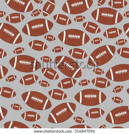 Brown and Gray Football Tile Pattern Repeat Background that is seamless and repeats