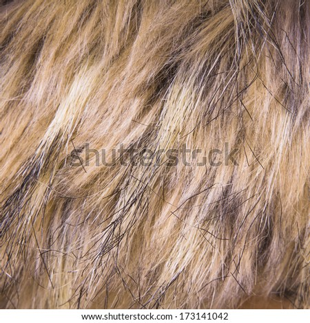 Brown artificial fur for background - stock photo