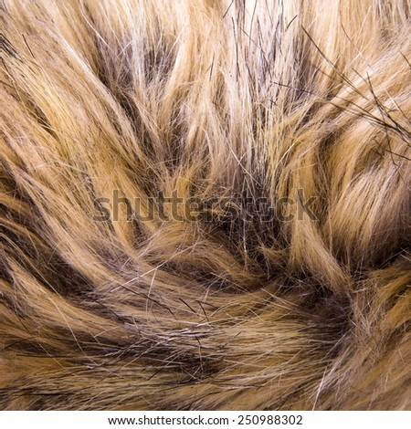 Brown artificial fur texture for background - stock photo