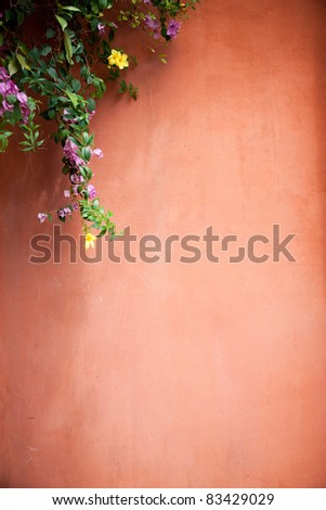 Brown background with a climber - stock photo