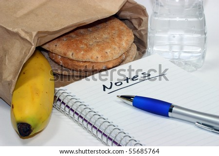 Brown Bag Lunch Meeting - stock photo