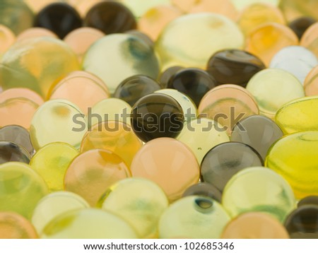 brown ball bright green translucent pink - stock photo