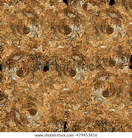 Brown-black abstract seamless pattern.
