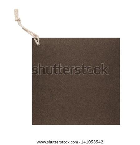 Brown blank price tag - stock photo
