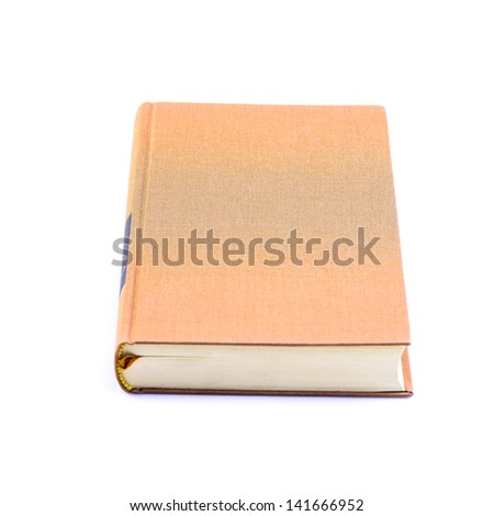Brown book isolated on white background - stock photo