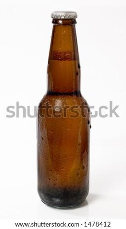 Brown bottle of Ice Cold Beer