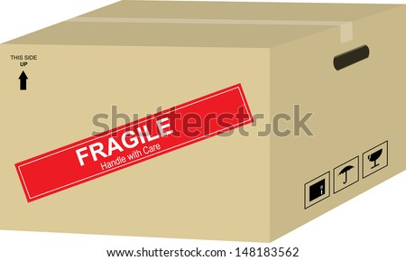 Brown Box - stock photo