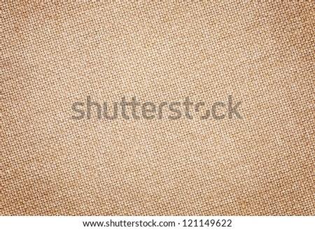 Brown burlap texture - stock photo