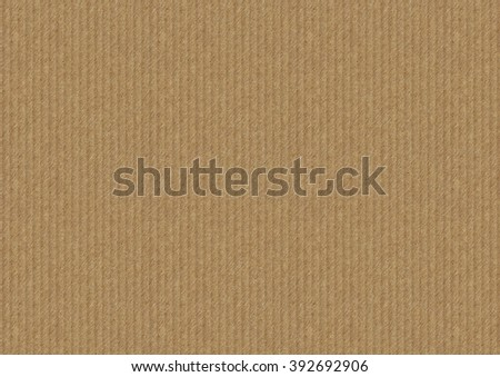 Brown cardboard background with vertical strips, paper texture.