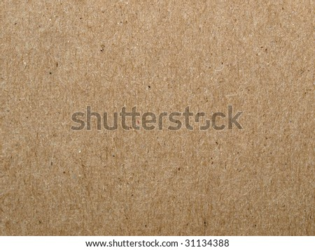 Brown cardboard sheet useful as a background - stock photo