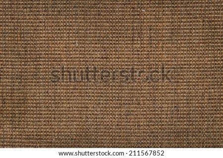 Brown carpet texture as background image - stock photo