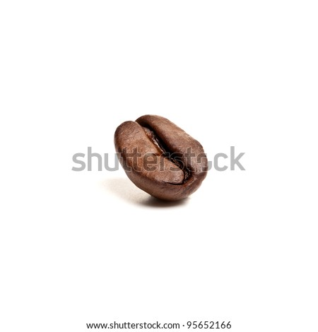 Brown Coffee Bean on white background - stock photo