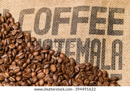 Brown coffee caffeine beans background - stock photo