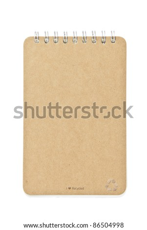 brown color Cover Note Book - stock photo