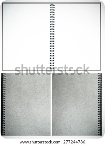 Brown color notebook on wood background