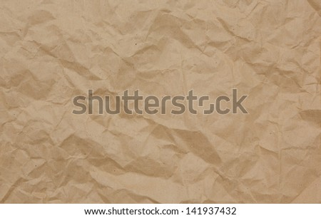 brown color paper bag background and texture - stock photo