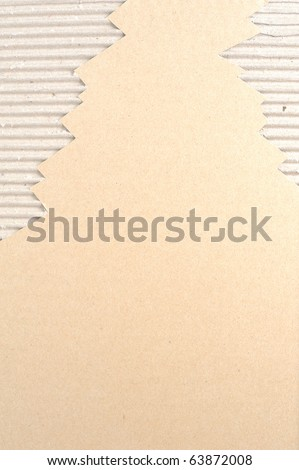 Brown Corrugated cardboard texture with blanks space for text - stock photo