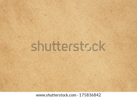 Brown craft paper for background - stock photo
