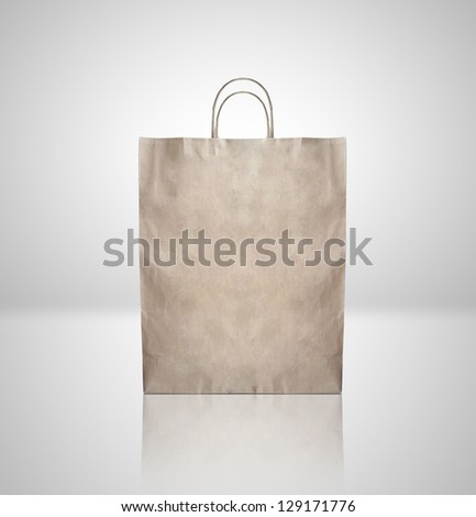 brown craft paper package. closeup - stock photo