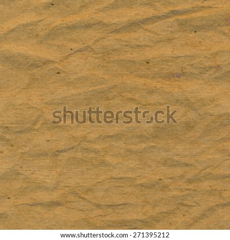 Brown crumpled paper for background - stock photo