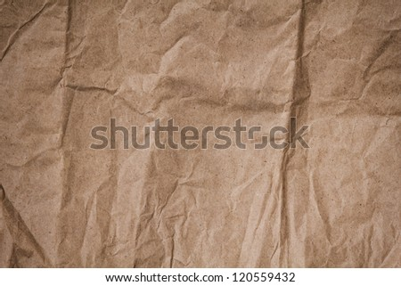 brown crumpled paper texture, can be used as a background
