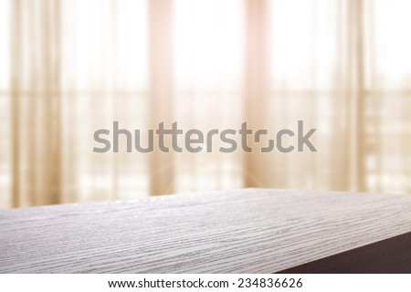 brown dark top and window place  - stock photo