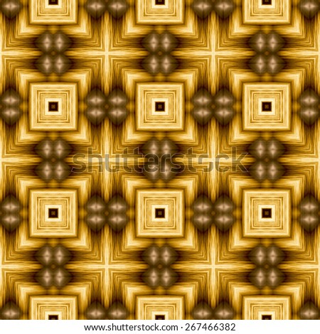 brown Decorative seamless pattern in ethnic geometric style - stock photo