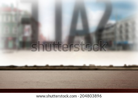 brown desk of sale  - stock photo