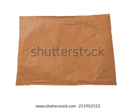 Brown document envelope - stock photo