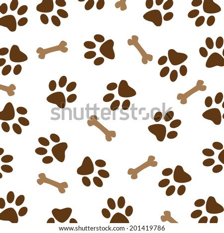 ... colorful ... Colored Dog Paw Print Border Colored Dog Paw Print Border