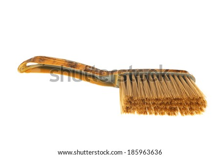 Brown dust brush isolated on white background - stock photo