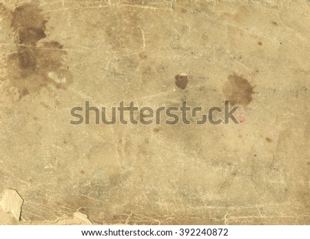 brown empty old vintage paper background. Paper texture - stock photo