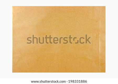 Brown Envelope document on white background.