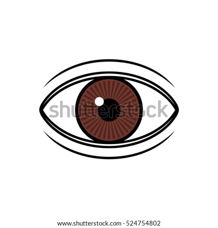 Brown eye illustration