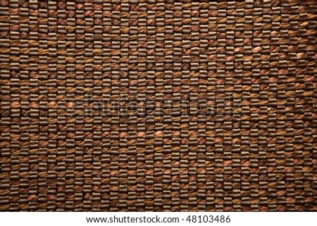 Brown fabric and leather texture background  pattern - stock photo