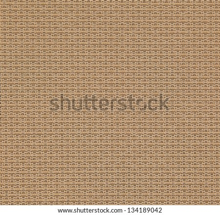 Brown Fabric Texture Background - Rectangular weave using brown fabric makes this textured background. - stock photo