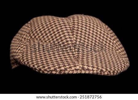 brown farmers flatcap cutout - stock photo
