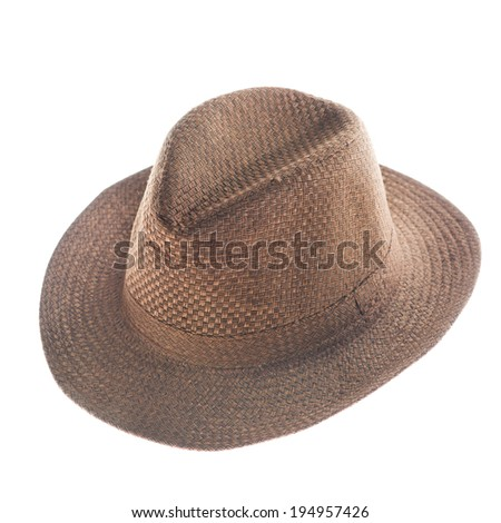 brown Fedora Hat in isolate