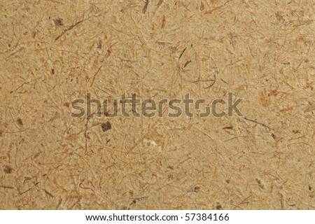 Brown fiber, thin film paper details - stock photo