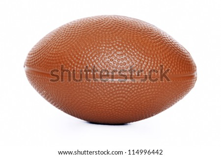 brown football isolated on white background - stock photo