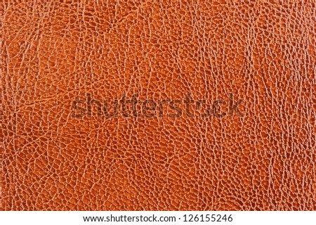 Brown Glossy Patterned Leather Background Texture - stock photo