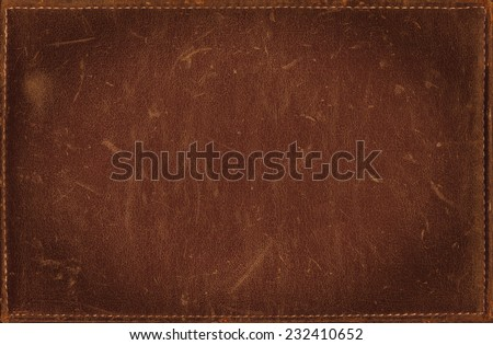 Brown grunge background from distress leather texture - stock photo