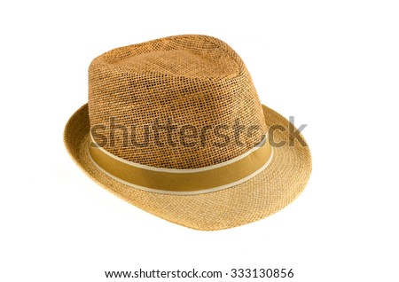 Brown Hat isolate on white background