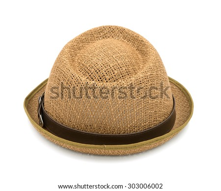 Brown hat isolated on a white background