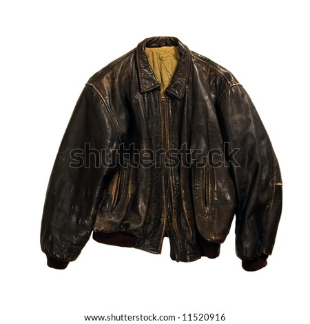Brown jacket isolated on white background - stock photo