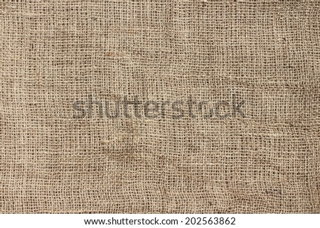 Brown jute texture background - stock photo