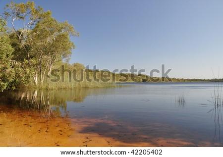 Brown Lake - stock photo