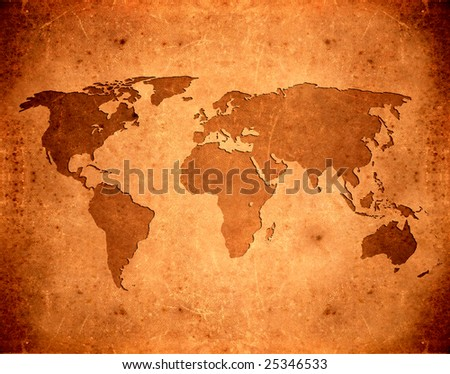 Brown leather aged grunge world map stock illustration 25346533 brown leather aged grunge world map gumiabroncs Images